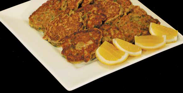 Fritters mussel courgette or banana